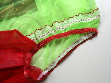 Pin-Up Style Neon Green Sexy Nylon Sissi Panty