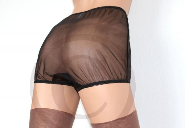 Legsware Pin-Up Style Black Sheer Nylon Panty