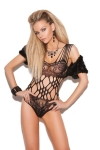 Black Lace Teddy With Cutouts OS and Queen