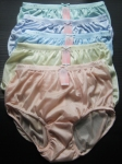 Soft Nylon Vintage Style Full Brief Panties XXL