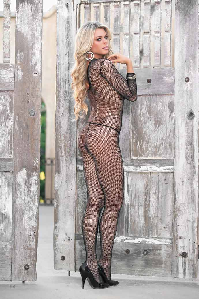 nylon langarm bodystocking catsuit legsware shop. Black Bedroom Furniture Sets. Home Design Ideas