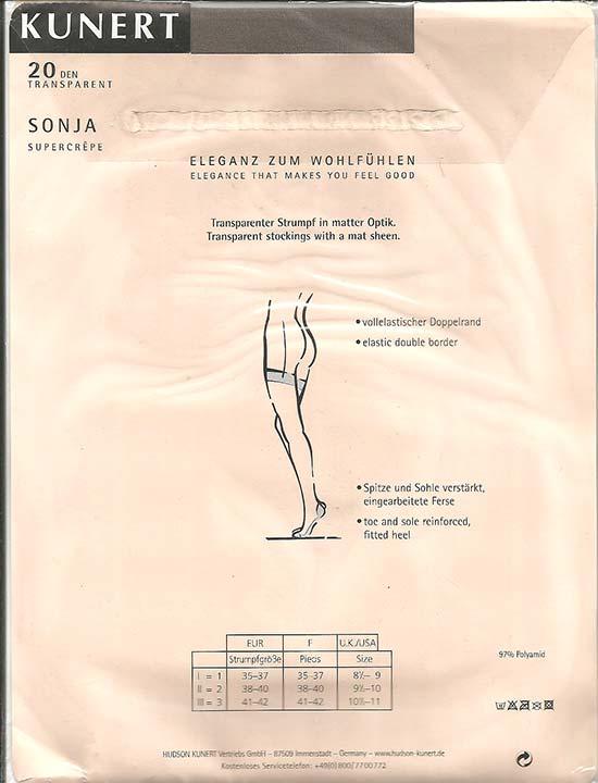 Discounter neueste trends von 2019 neuer Stil Kunert Sonja Vintage 20den Feinstrümpfe 10,5-11 - Legsware-Shop
