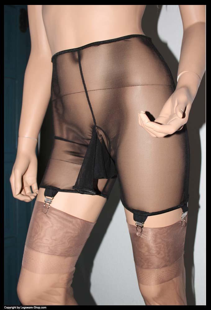 Retro garter belt black stockings 1
