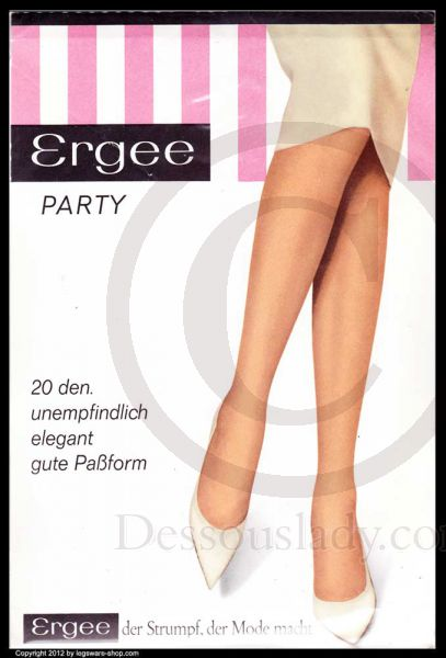 Ergee Party 90 cm Nylon Stockings Nylons Sz 10,5 XL