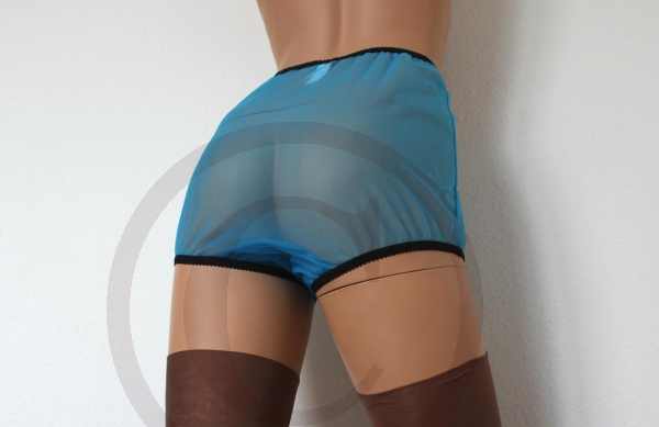 Legsware Pin-Up Style Blue Sheer Nylon Panty Slip