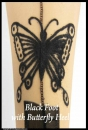 Nylon Stockings Sireco Black Foot with Butterfly Heel 9,5