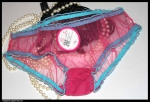 Nylon Panty Very Sheer Pink Turquoise Small