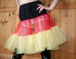 Flirty Petticoat Black-Red-Yellow Size S to L